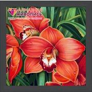 """Набор для выкладывания мозаики Алмазная живопись """"Красные орхидеи"""""""