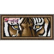 """Набор для выкладывания мозаики Алмазная живопись """"Взгляд тигра"""""""