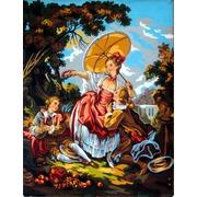 """Канва/ткань с нанесенным рисунком Gobelin-L """"Дама с зонтиком"""""""