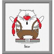 """Набор для вышивания крестом Овен """"Кошачий гороскоп. Весы"""""""