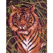 """Канва/ткань с нанесенным рисунком Матрёнин посад """"Грозный тигр"""""""