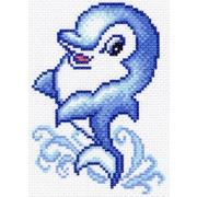 """Канва/ткань с нанесенным рисунком Матрёнин посад """"Дельфинчик"""""""