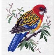 """Канва/ткань с нанесенным рисунком Матрёнин посад """"Попугай на ветке"""""""