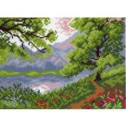 """Канва/ткань с нанесенным рисунком Матрёнин посад """"Озеро в горах"""""""