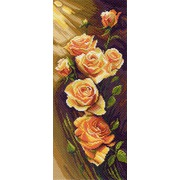 """Канва/ткань с нанесенным рисунком Матрёнин посад """"Жёлтые розы"""""""