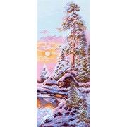 "Канва/ткань с нанесенным рисунком Матрёнин посад ""Зимнее утро"""