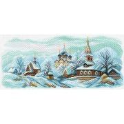 "Канва/ткань с нанесенным рисунком Матрёнин посад ""Зимний Суздаль"""
