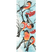 """Канва/ткань с нанесенным рисунком Матрёнин посад """"Снегири на ветке"""""""