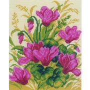"""Канва/ткань с нанесенным рисунком Матрёнин посад """"Фиолетовые цветы"""""""