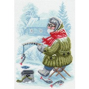 """Канва/ткань с нанесенным рисунком Матрёнин посад """"Рыбак"""""""