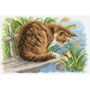 """Канва/ткань с нанесенным рисунком Матрёнин посад """"Любопытный котенок"""""""