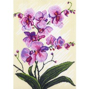"""Канва/ткань с нанесенным рисунком Матрёнин посад """"Орхидеи"""""""