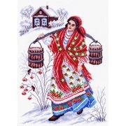 """Канва/ткань с нанесенным рисунком Матрёнин посад """"Студеная водица"""""""