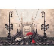 "Канва/ткань с нанесенным рисунком Матрёнин посад ""Туманный вечер в Будапеште"""