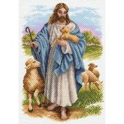 """Канва/ткань с нанесенным рисунком Матрёнин посад """"Иисус с барашком"""""""