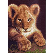 """Канва/ткань с нанесенным рисунком Матрёнин посад """"Маленький львенок"""""""