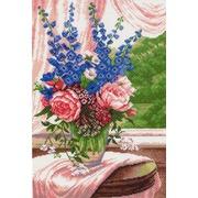 "Канва/ткань с нанесенным рисунком Матрёнин посад ""Цветы на окне"""