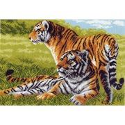 "Канва/ткань с нанесенным рисунком Матрёнин посад ""Тигры"""