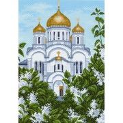 "Канва/ткань с нанесенным рисунком Матрёнин посад ""Храм Христа Спасителя"""