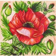 "Канва/ткань с нанесенным рисунком Матрёнин посад ""Мак"""