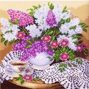 """Канва/ткань с нанесенным рисунком Матрёнин посад """"Сирень в вазе"""""""