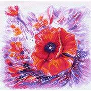 """Канва/ткань с нанесенным рисунком Матрёнин посад """"Цветной круговорот"""""""