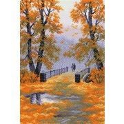"""Набор для вышивания крестом Матрёнин посад """"Осень в парке"""""""