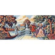 """Канва/ткань с нанесенным рисунком Gobelin-L """"Кавалер приглашает..."""""""