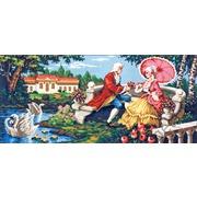 """Канва/ткань с нанесенным рисунком Gobelin-L """"Цветы для прекрасной дамы"""""""