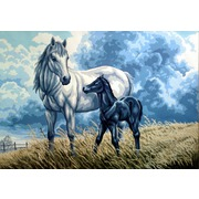 """Канва/ткань с нанесенным рисунком Gobelin-L """"Лошадь с жеребенком"""""""