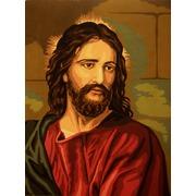 """Канва/ткань с нанесенным рисунком Gobelin-L """"Иисус"""""""
