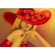 """Канва/ткань с нанесенным рисунком Матрёнин посад """"Дама в красном"""""""