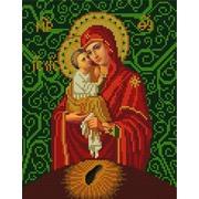"""Канва/ткань с нанесенным рисунком Конёк """"Богородица Почаевская"""""""