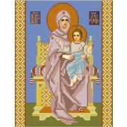 """Канва/ткань с нанесенным рисунком Конёк """"Богородица на престоле"""""""