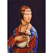 "Канва/ткань с нанесенным рисунком Конёк ""Дама с горностаем"""