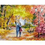 """Набор для раскрашивания Белоснежка """"Осенний парк, скамейка, двое"""""""
