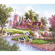 """Канва/ткань с нанесенным рисунком Глурия (Астрея) """"Коровы"""""""