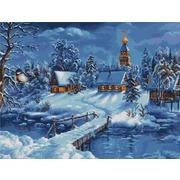 """Набор для вышивания крестом Luca-S """"Зимний пейзаж"""""""