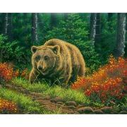 "Канва/ткань с нанесенным рисунком Глурия (Астрея) ""Бурый медведь"""