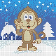 """Набор для выкладывания мозаики Алмазная живопись """"Забавная обезьянка"""""""