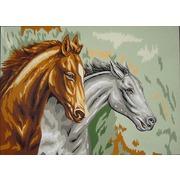 "Канва/ткань с нанесенным рисунком Gobelin-L ""Два коня"""