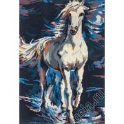 """Канва/ткань с нанесенным рисунком Gobelin-L """"Белый конь в сизой дымке"""""""