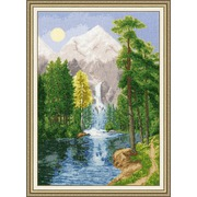 """Набор для вышивания крестом Золотое Руно """"Водопад в горах"""""""