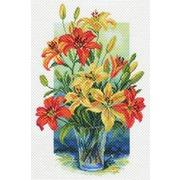 """Канва/ткань с нанесенным рисунком Матрёнин посад """"Лилии в вазе"""""""