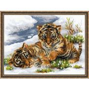"""Набор для вышивания крестом Риолис """"Тигрята в снегу"""""""