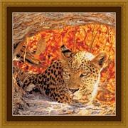 """Набор для вышивания крестом Kustom Krafts Inc. """"Затаившийся леопард"""""""