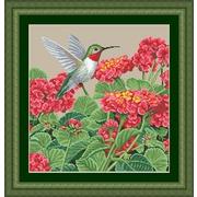 """Набор для вышивания крестом Kustom Krafts Inc. """"Великолепие колибри"""""""