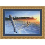 """Набор для вышивания крестом Kustom Krafts Inc. """"Зимний закат"""""""
