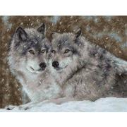 """Набор для вышивания крестом Luca-S """"Два волка"""""""