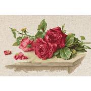 """Набор для вышивания крестом Luca-S """"Красные розы"""""""